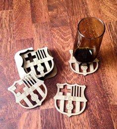 Laser Cut FCB Football Coasters Free Vector