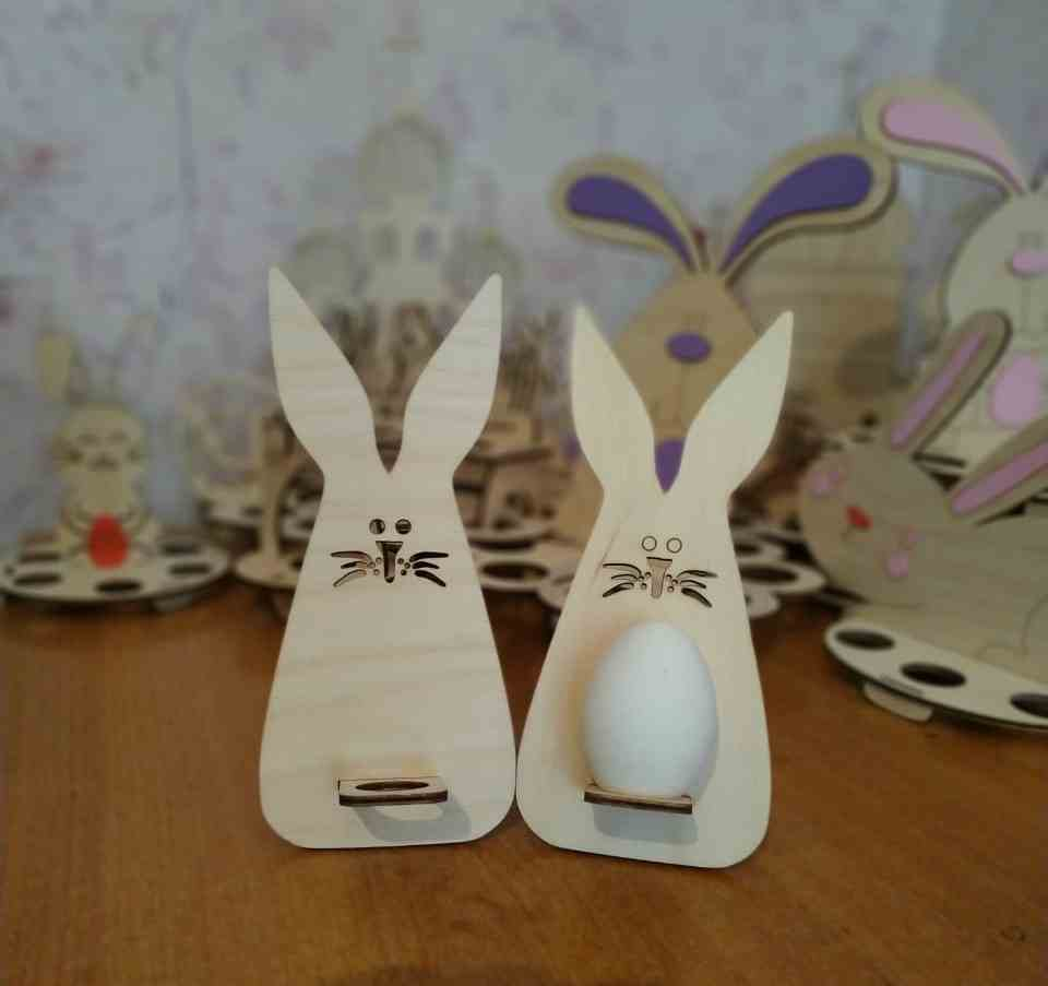 Laser Cut Wooden Easter Bunny Template 3mm Free Vector