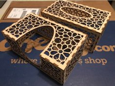 Laser Cut Tissue Box 3mm Birch Plywood DXF File