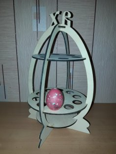 Laser Cut Easter Eggs Stand 4mm Free Vector