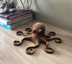 Laser Cut Octopus Layered Wooden DXF File