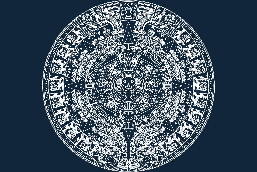 aztec calender dxf file