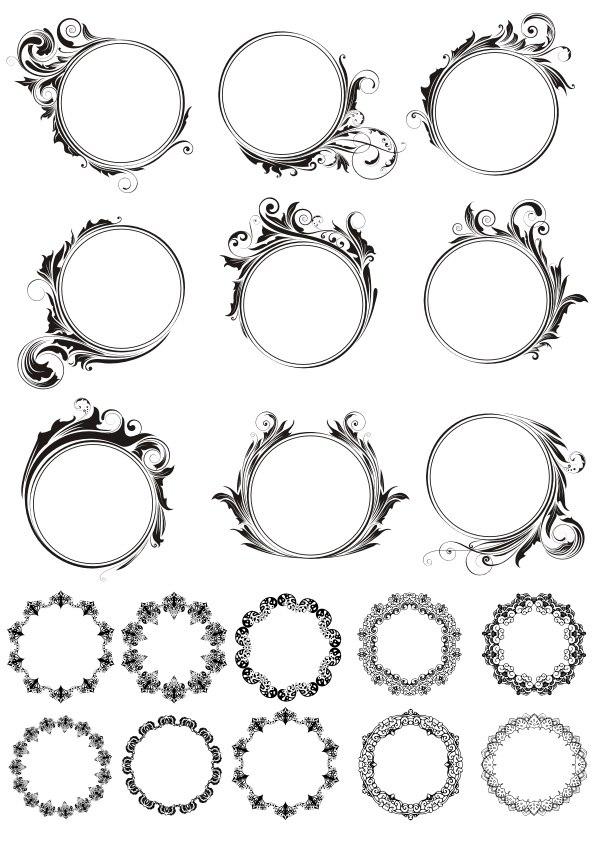Round Decorative Vector Frames Free Vector