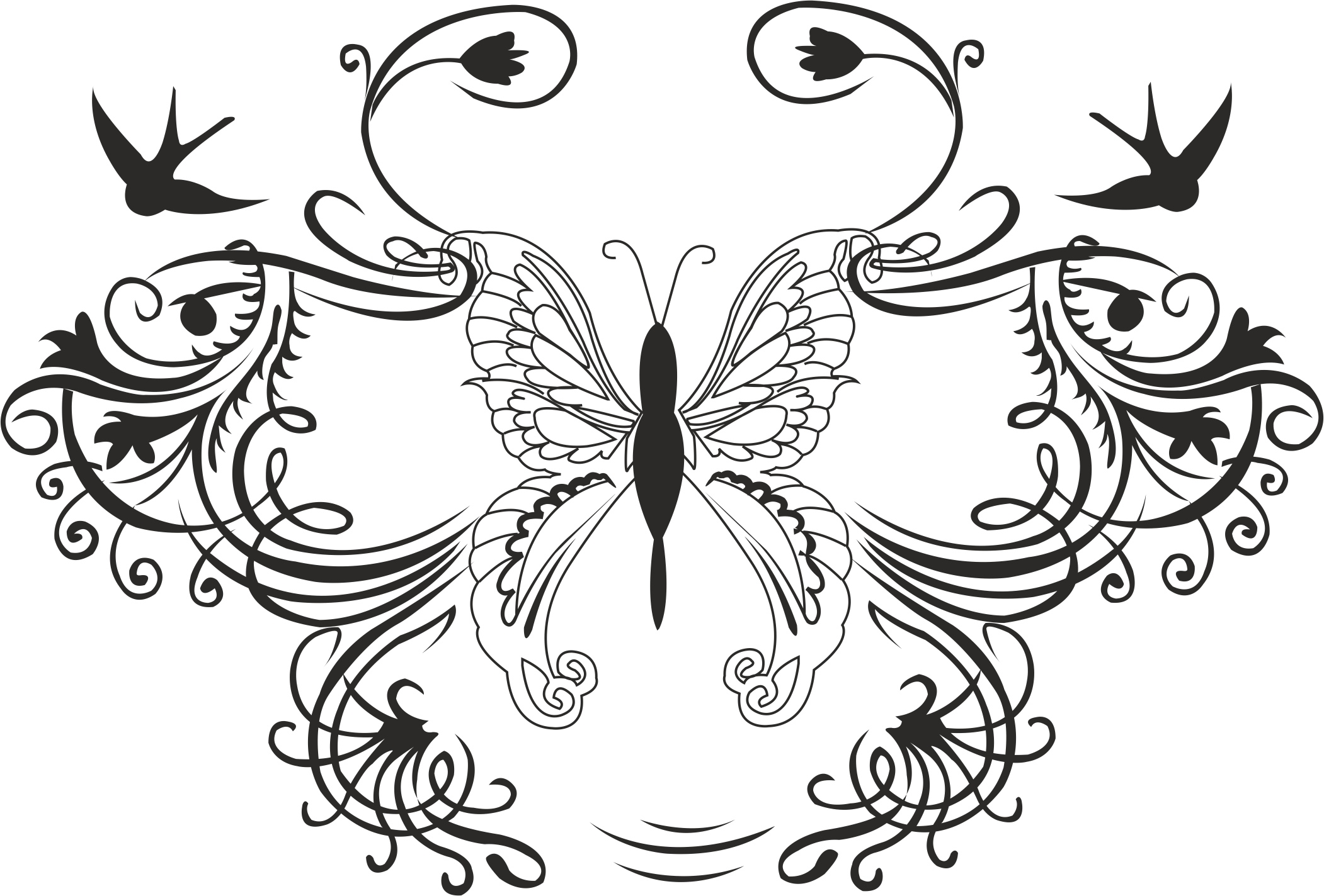 Butterflies Decoration Free Vector