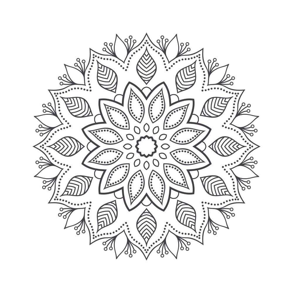 Mandala For Coloring 1 Free Vector