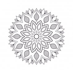 Mandala For Coloring 1 Free Vector