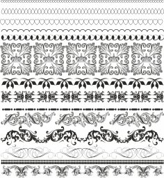 Border Pattern Free Vector