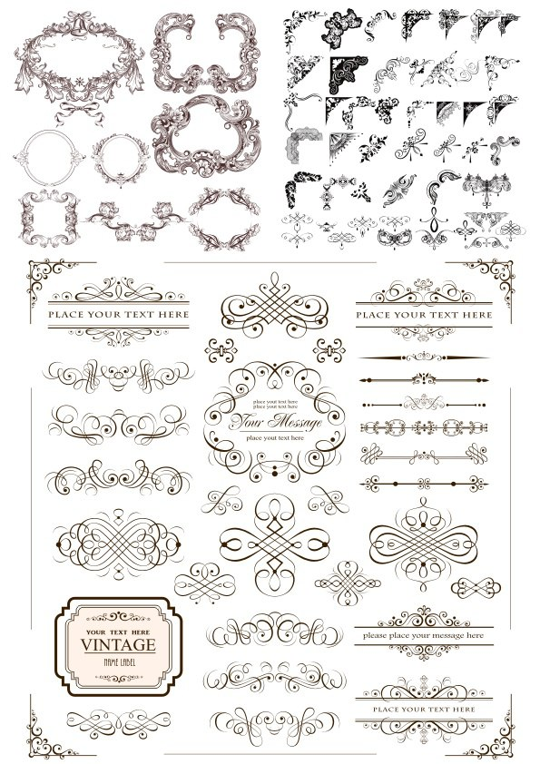 Decorative Elements Vectors Free Vector