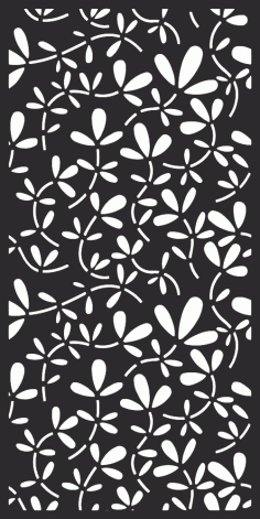 Floral Screen Pattern Free Vector