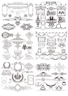 Vintage Decor Collection Free Vector