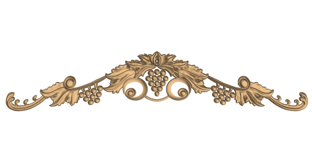 Carved Grapes Design CNC Router Engraver Carving Stl File