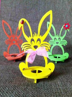 Laser Cut Wooden Easter Bunny Rabbit Free Vector