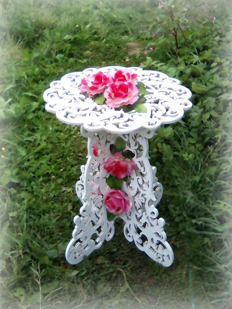 Laser Cut Decorative Table Template Free Vector