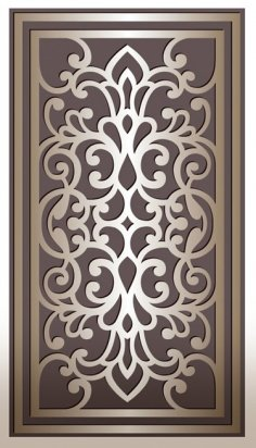 Laser Cut Decorative Panel Design DXF File
