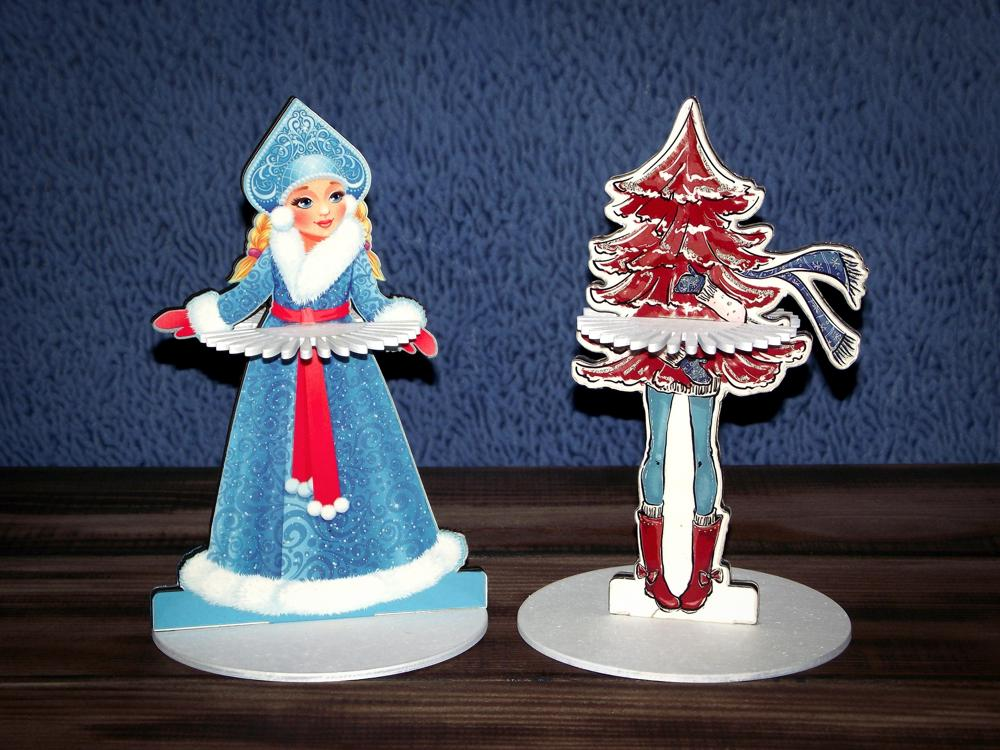 Laser Cut Napkin Holder Snow Maiden Christmas Tree Free Vector