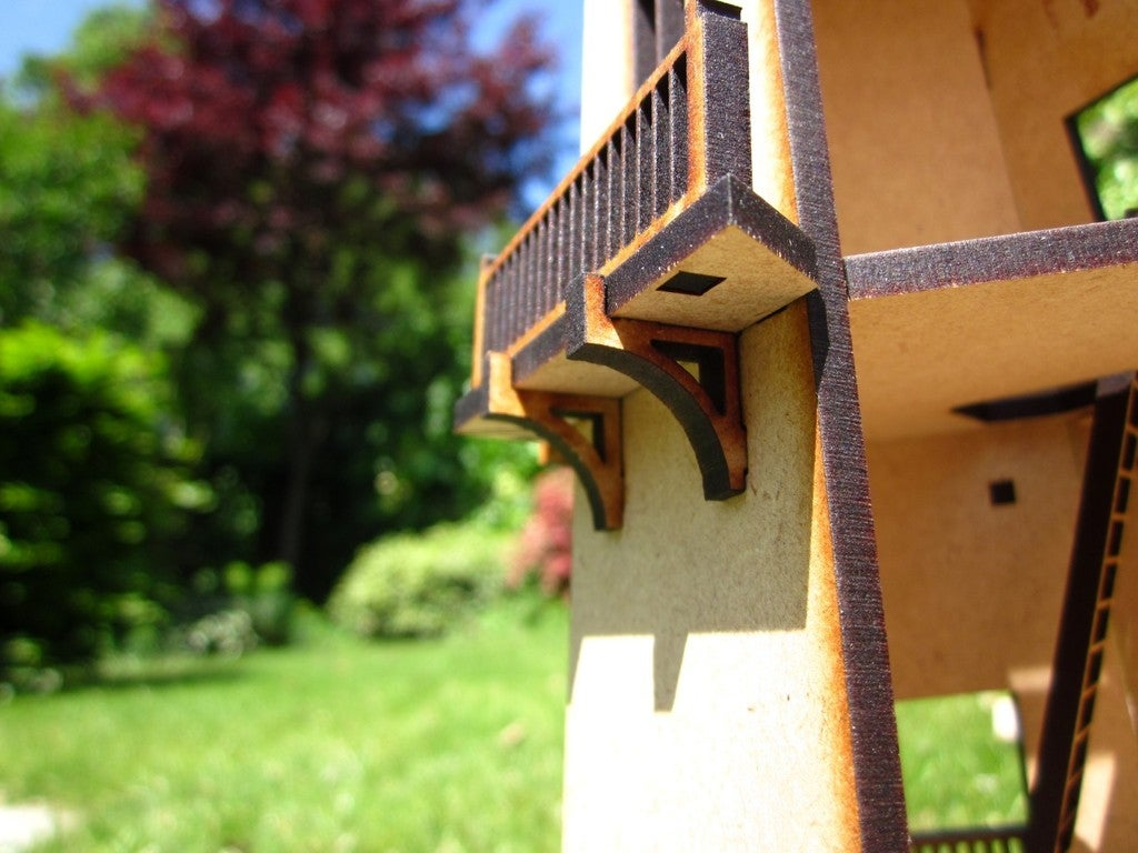 Laser Cut Lighthouse 3D Model Kit Toy 4mm Mdf DXF File