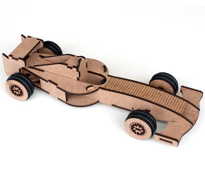 Laser Cut Formula 1 Model Toy PDF File