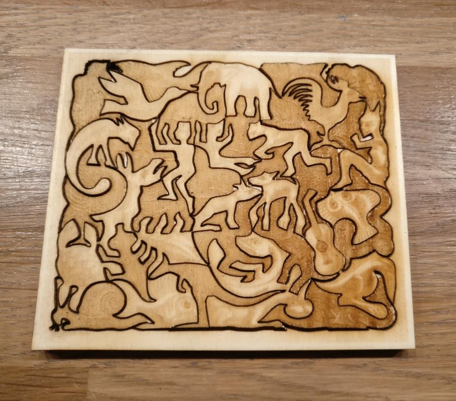 Laser Cut M. C. Escher Mosaic II Free Vector