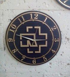 Laser Cut Rammstein Clock Free Vector