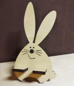 Laser Cut Cute Bunny Phone Stand Free Vector