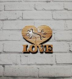 Laser Cut Love Heart Holding Hands Free Vector