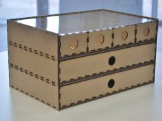 Laser Cut Stacking Drawer Box PDF File