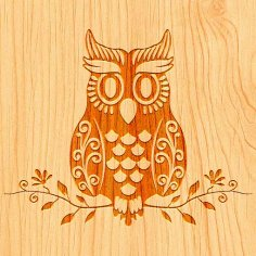 Laser Cut Owl Free Vector