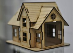 Laser Cut Wooden Toy House Template DXF File