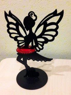 Laser Cut Fairy Napkin Holder Free Vector