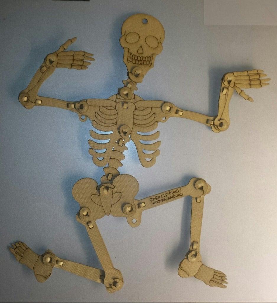 Laser Cut Articulated Skeleton Kraftplex FO 08mm SVG File