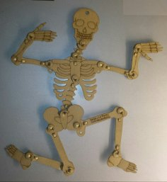 Laser Cut Articulated Skeleton Kraftplex FO 08mm SVG File