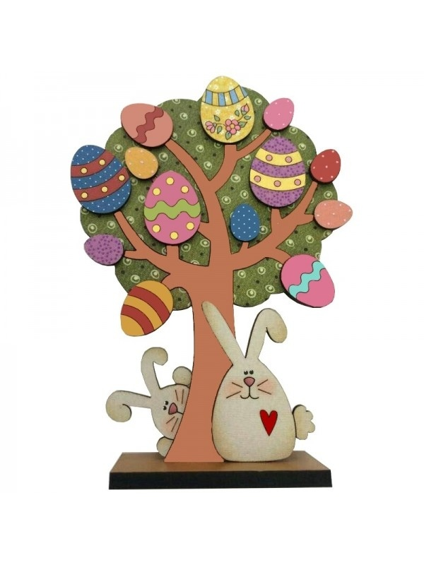 Laser Cut Easter Tree Free Vector
