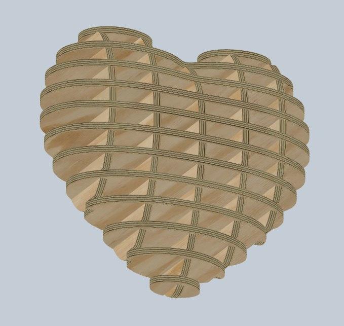 Laser Cut Wooden Heart 4mm Free Vector