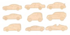 Laser Cut Engraving Auto Vehicles Cars Free Vector