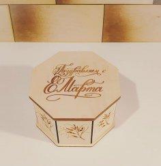 Laser Cut Wooden Octagon Box Decorative Jewelry Organizer Storage Box Free Vector