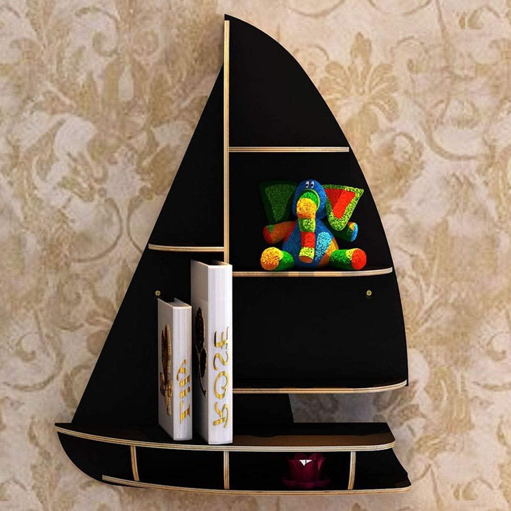 Laser Cut Sailboat Floating Wall-Mounted Storage Shelf DXF File