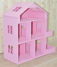 Laser Cut Barbie Dreamhouse Fashion Dolls House Free Vector