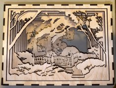 Laser Cut Landscape In A Box 3mm Free Vector
