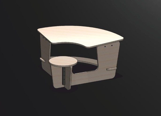 Kid's Table and Chair DXF File