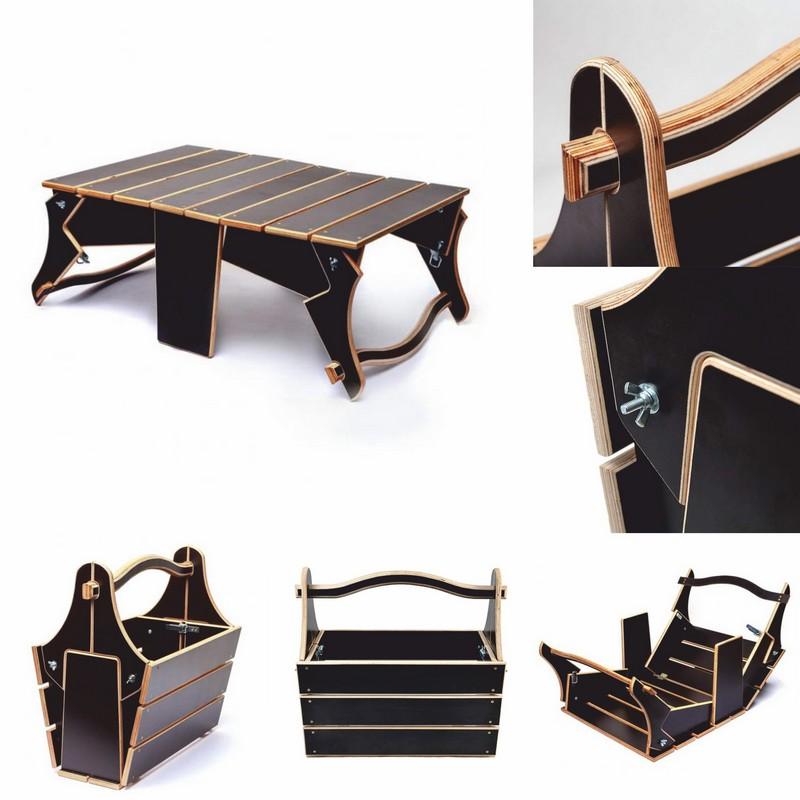 Basket to Folding Picnic Table DXF File