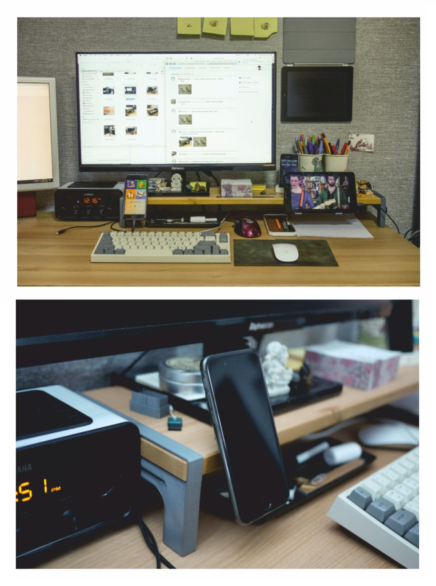 Laser Cutting Monitor Stand DXF File