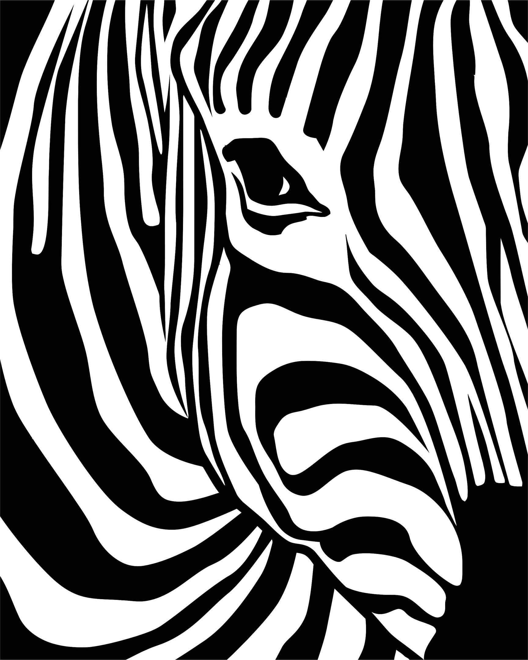 Zebra Print EPS File