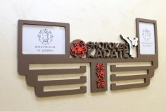 Laser Cut Shotokan Karate Medal Display Hanger Free Vector