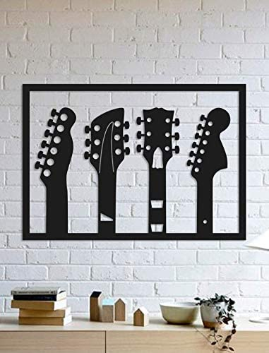 Laser Cut Music Guitars Wall Art Gift For Musician Free Vector