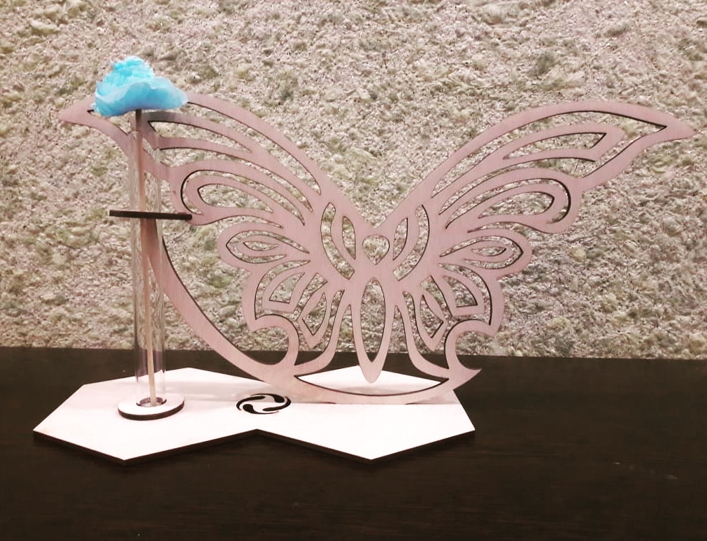 Laser Cut Butterfly Stand Glass Planter Test Tube Vase Glass Flower Pot Free Vector