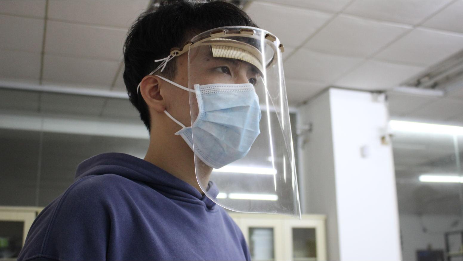 Laser Cut Face Shield DXF File