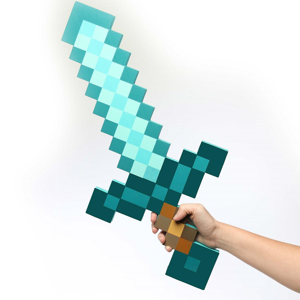 Laser Cut Minecraft Diamond Sword And Pickaxe Toys Free Vector
