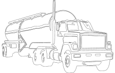 Tank Truck DXF File
