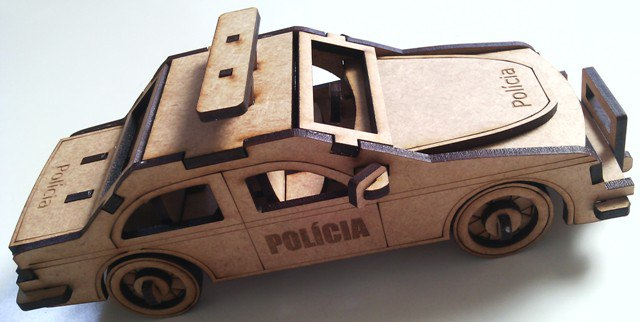 Laser Cut Police Car Template Free Vector