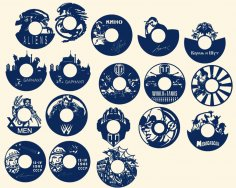 Laser Cut Wall Clock Templates Collection Free Vector